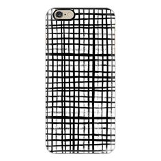 iPhone 6 Plus/6/5/5s/5c Case - Essie - Black and White grid, grid,... (160 MYR) ❤ liked on Polyvore