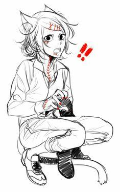So f-ing cute Anime Neko, Manga Anime, Anime Art, Kaneki, Death Note, Itori Tokyo Ghoul, My Little Pony, Attack On Titan, Chibi