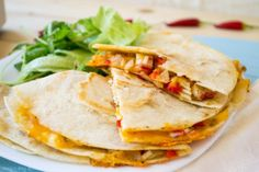 Quesadillas with crab meat and cheddar cheese