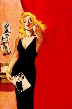 By-line Mona Knox by John Turner with cover art by Robert Maguire Robert Mcginnis, Comics Vintage, Vintage Art, Pop Art, Dark Beauty, Arte Pulp Fiction, Serpieri, Pin Up Art, Christen