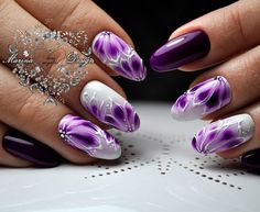 Heat Up Your Life with Some Stunning Summer Nail Art Manicure Nail Designs, Acrylic Nail Designs, Nail Art Designs, Bright Nail Designs, Purple Nail Designs, Gel Nail Art, Gel Nails, Nail Art Fleur, Sunflower Nail Art