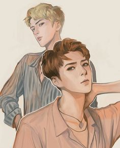 Sehun fan art by zizi Sehun, Park Chanyeol, Exo Exo, Exo Anime, Fanart Bts, Hunhan, Exo Ot12, Exo Fan Art, Disney Fan Art