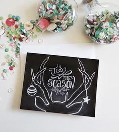 Tis The Season Holiday Chalkboard Cards – Box of 8
