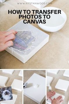 How to transfer photos to canvas to make a vision board! affiliatelink crafts craft crafting diy doityourself wallart diycraft diywallart canvas art is part of Canvas photo transfer -