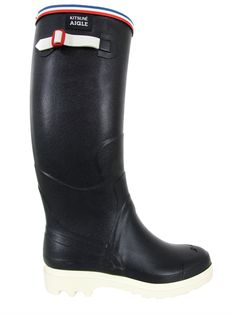 maison kitsun x aigle festival hand made marine blue wellington boots the