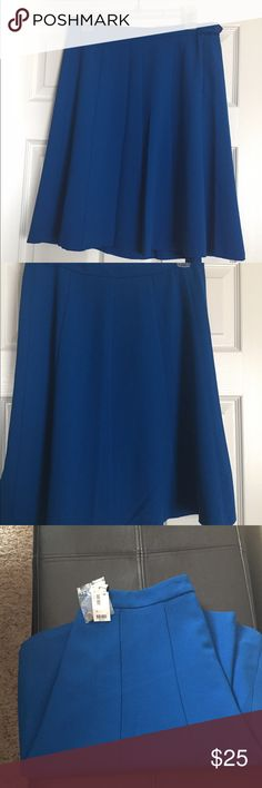 Limited Cobalt Blue Skirt Sz M NWT limited brand skirt in cobalt blue. Beautiful dressed up or down. The Limited Skirts Circle & Skater