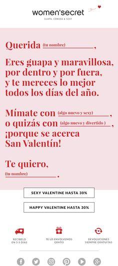 San Valentín. women'secret newsletter.