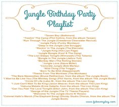 Jungle-Themed First Birthday Party Music Playlist from www.fabeveryday.com