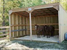 Get some latest modern easy DIY horse shelter ideas, portable shed, temporary shelters, and stalls. You can make custom horse barns yourself from wooden pallets. Horse Shed, Horse Barn Plans, Horse Fencing, Goat Shelter, Horse Shelter, Lean To Shelter, Barn Stalls, Horse Stalls, Field Shelters