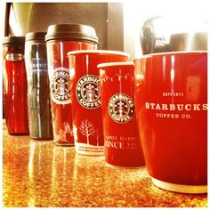 (Starbucks Christmas Cups)  Red. by suendercafe @ Flickr - Photo Sharing!