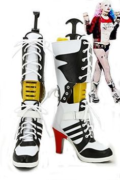 8916601f0a3aa8 Batman Suicide Squad Harley Quinn Cosplay Shoes Boots