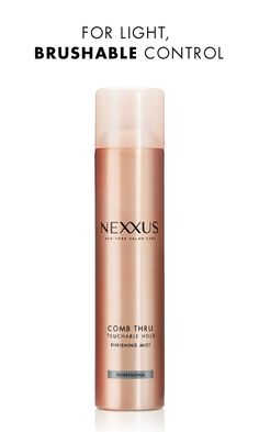 For hair that retains both polish and movement throughout your day, a lightweight spray like Nexxus Comb Thru Finishing Mist is a must-have. You'll get flexible control with body, bounce, and shine that feel completely natural. Put it to the test on a humid day for fly-away-free style that moves beautifully.