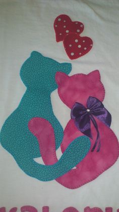 Tips for Knitting Your Own Socks Cat Applique, Applique Templates, Applique Patterns, Applique Quilts, Applique Designs, Embroidery Applique, Quilt Patterns, Upcycling Shirts, Cat Quilt