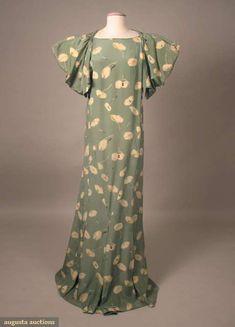 Vionnet Attributed Silk Day Dress, circa 1930.