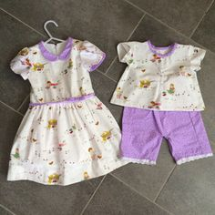 https://flic.kr/p/mTa8jZ | Oliver + S Easter outfits - Fairy Tale Dress (2T) & Lullaby Layette (3-6m) | Coordinating outfits for my two nieces :-). Fabric is Posy Meadow by Aneela Hoey and a lavender & white quilting fabric. I am looking forward to seeing pictures of my nieces wearing their pretties!