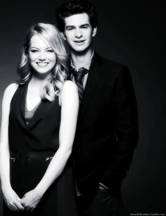 Emma Stone and Andrew Garfield... The King and Queen of Hollywood! Mr. and Mrs. Garfield!