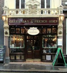 Green Man & French Horn. 54 St. Martin's Lane. This used to be my favorite little pub. Sadly it's now a French Restaurant. Probably very good, but not nearly as charming.
