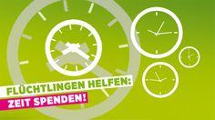 Flüchtlingen helfen: Zeit spenden!