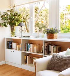 Librería blanca bajo...
