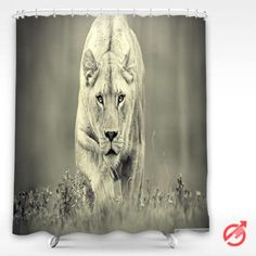 Cheap Lioness hunting Shower Curtain