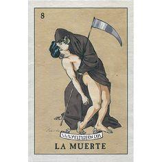 Félix Frédéric d'Eon, 'La muerte' / ilustración, gay, illustration, loteria, loteria mexicana, méxico