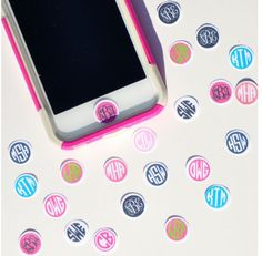 Personalized, Custom Monogrammed IPhone IPod IPad Home Button Stickers--Set of Three Etsy. Ipod Cases, Cute Phone Cases, Pillos, Cute Cases, Iphone Accessories, Backstreet Boys, Just In Case, Preppy, Tween