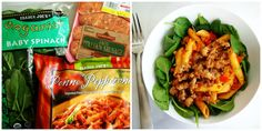 Easy Trader Joe's Recipes - 5 ingredients or less! | anutritionisteats.com. Penne Peperonata with Sausage and Spinach