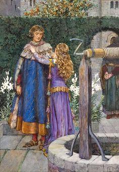 Eleanor Fortescue-Brickdale - Lancelot and Elaine