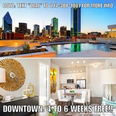 """Deal of the Day: DOWNTOWN: 4 WEEKS FREE on 1 bedroom 12 month leases 6 WEEKS FREE on 2 bedroom 12 month leases. Apartment is paying 100% of 1 months rent as commission which we'll split with you. Units start at $1450. Downtown location without the downtown prices.  Don't forget to put down """"Help Urself Leasing"""" when filling out ur lease application to get back 50% of the commission we earn from ur referral. Check out our website for details.  #leasing #rent #realestate #apartmentlocator…"""
