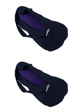 Yoga Mat Bag Extra Large Organic Cotton By Bean Products - Navy
