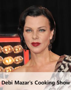 Debi Mazar and her husband host their own cooking show, Extra Virgin--Jules, this is the one I couldn't think of!