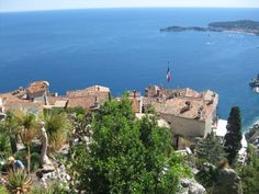 View of Nice from the top of Eze Sur Mer