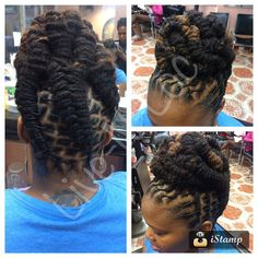 updo hairstyles for work French Twists Dreadlock Styles, Dreads Styles, Updo Styles, Sisterlocks, Dreadlock Hairstyles, Girl Hairstyles, Braided Hairstyles, Scene Hair, Flat Twist