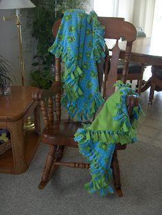 The best method for making fleece tie blankets.