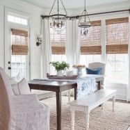 Elegant-Bamboo-Blinds-look-Atlanta-Farmhouse-Dining-Room-Image-Ideas-with-farm-sconce-farm-table-farmhouse-dining-table-ladder-shelves-lap-siding-milk-and-honey-187x187.jpg (187×187)