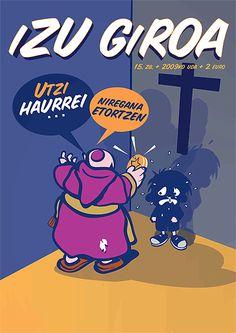 Portada fanzine IZU GIROA: Dejad que los niños se acerquen a mí...