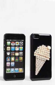 A scoop of bling: Ice Cream Cone iPhone 5 Case. $20