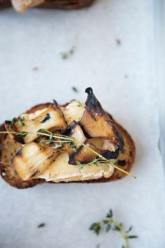 Trumpet Toast with Dorset Cheese + Thyme.