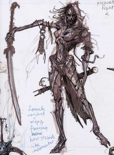 Draugr Concepts concept art from The Elder Scrolls V: Skyrim by Adam Adamowicz
