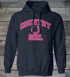 Navy - Country Girl ® Athletic Horseshoe Hoodie  Priority Shipping – Place orders by 12/16/2013 to ensure delivery by Christmas. www.countrygirlstore.com #CountryGirl #CountryBoy #Christmas