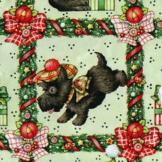 Christmas Scotty! Vintage wrapping paper