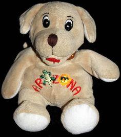 """Souvies Arizona Puppy Dog Tan  7"""" 2004 Plush RGU  Group Bean Bag Soft Toy  #Souvies"""