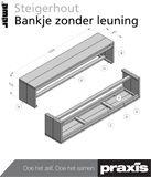 Bank zonder leuning en meer bouwtekeningen om zelf steigerhouten meubels te maken!