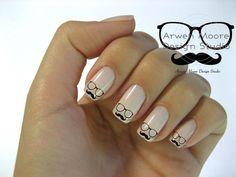 eyeglasses nail art #nail #beauty