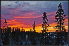 Sunset in Ruka, Oulu, Finland