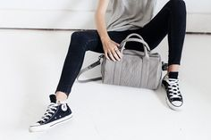 Status Anxiety Kingdoms and Oaths Hand Bag - Cement - The Style Merchant Shoulder Strap, Adidas Sneakers, Handbags, Stylish, Leather, How To Wear, Collection, Black