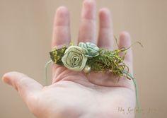 Dainty Green Tieback Photo Prop: newborn by TheGoldenStitchProps