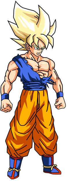 Super Saiyan Goku (Render) by AnthonyJMo.deviantart.com on @DeviantArt