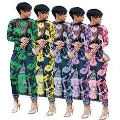 Womens Maxi Dress Batwing Boat Neck Long Sleeve Tunic Shift Dress Plus Size 8-26