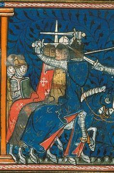 [Montgisard]. Le 25 novembre de l'an 1177, un vendredi, les guerriers francs aperçurent enfin l'ennemi vers l'heure de none.